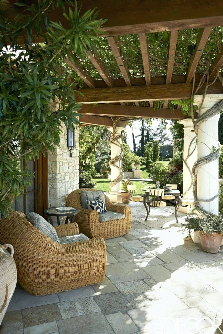 Comfortable Wicker Chairs with Plump Cushions