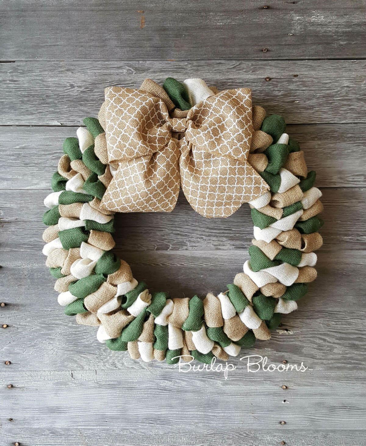 Cute Burlap Wreath with a Big Bow