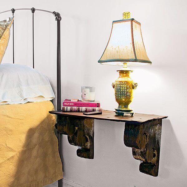 Simple Bedside Lamp and Book Shelf