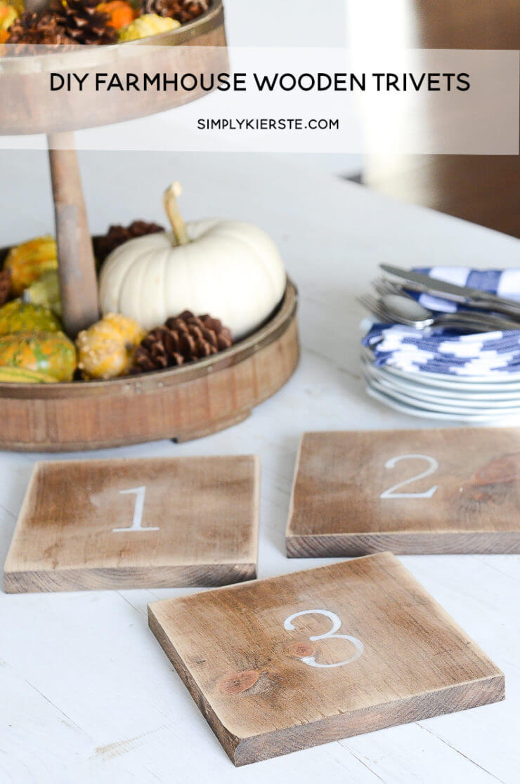 Make Simple Wooden Trivets Yourself