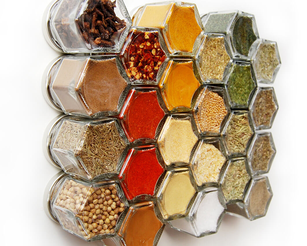 Magnetic Top Spice Jars