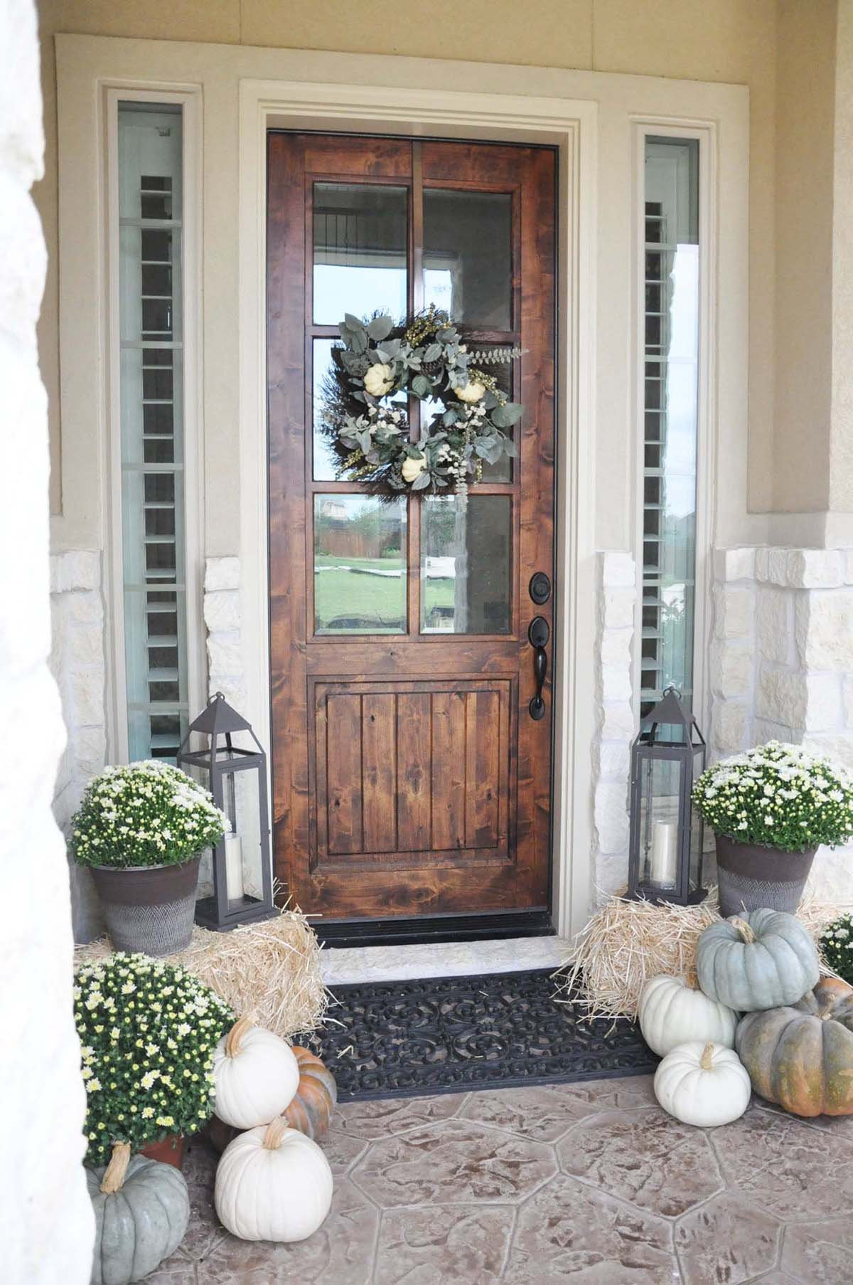 Chocolate Brown Windowed Front Door