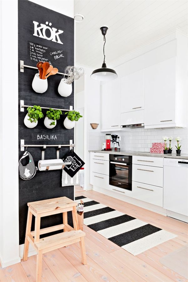 Chalkboard Surface Serves Many Purposes in the Kitchen