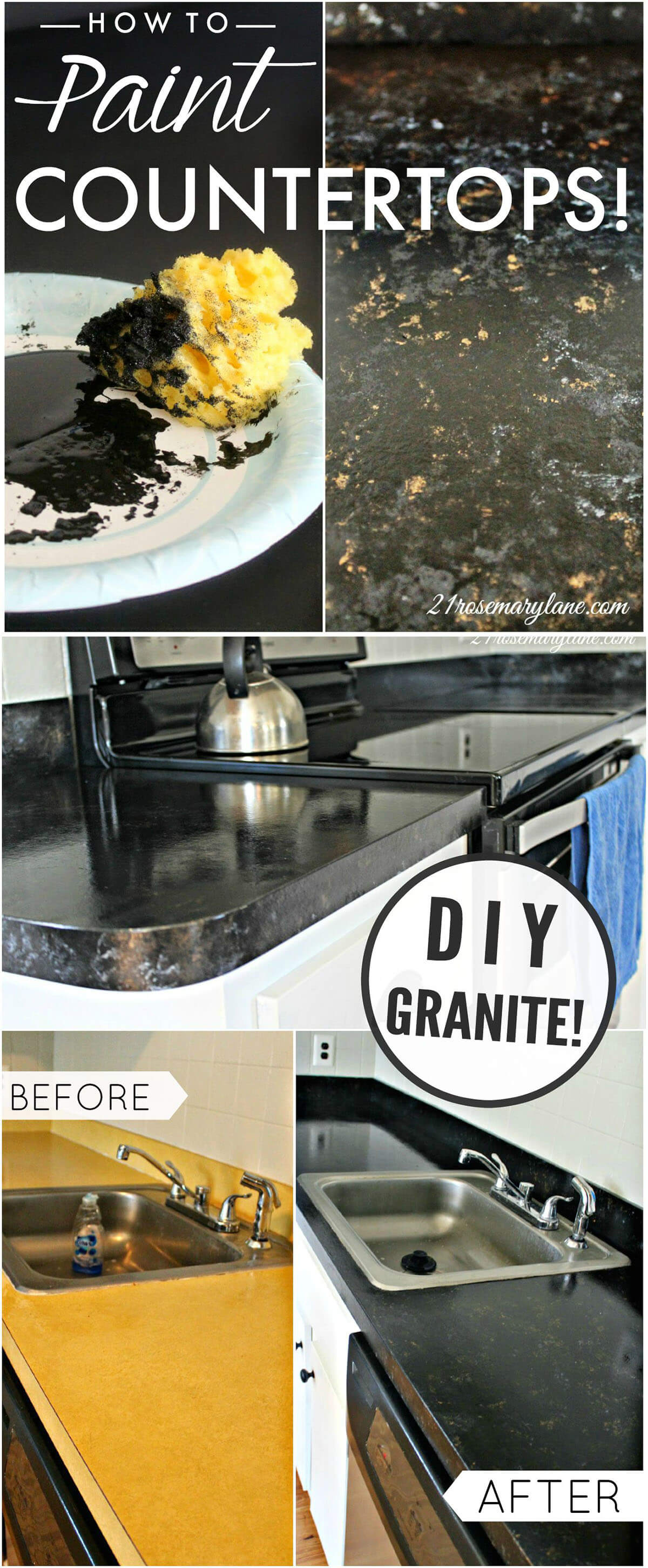 Ugly Old Countertop Renovation Innovation