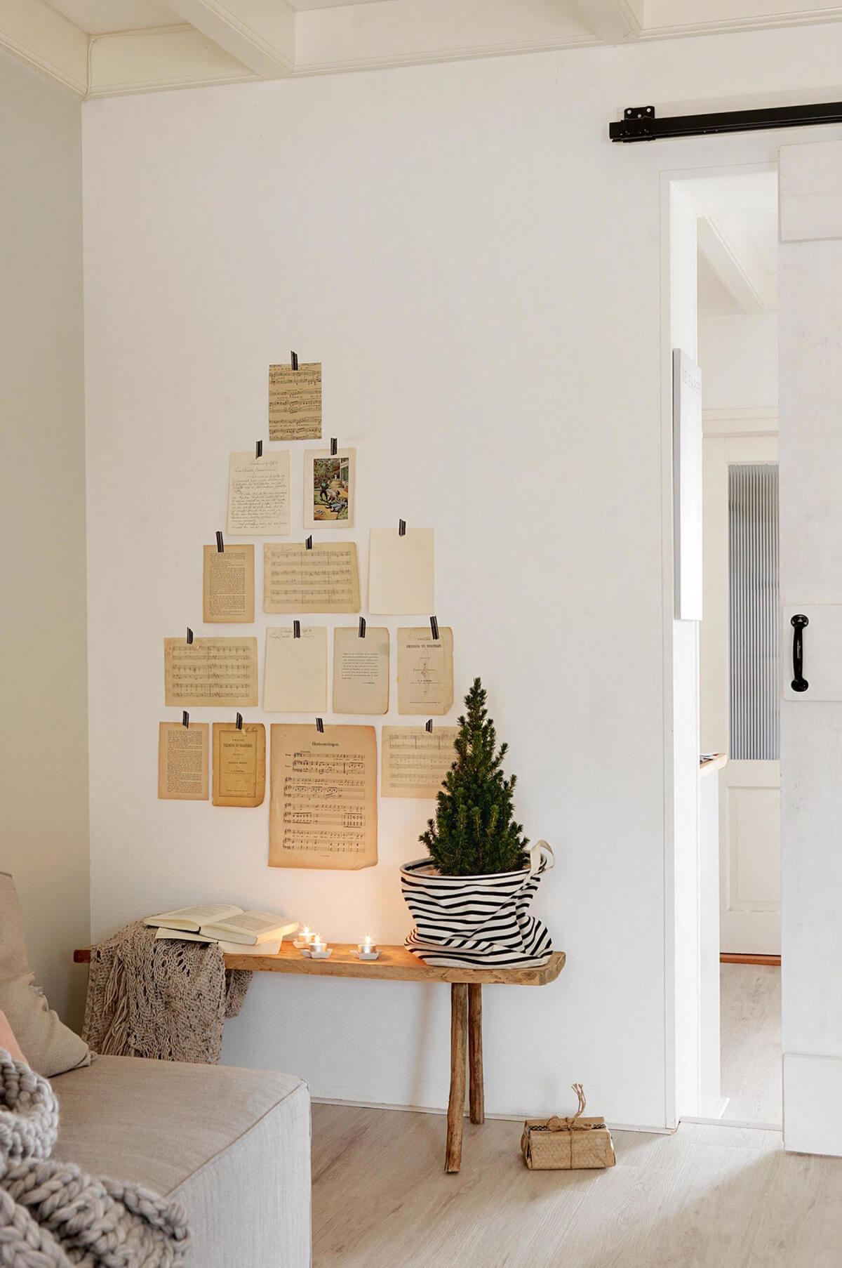 Christmas Sheet Music Gallery Wall