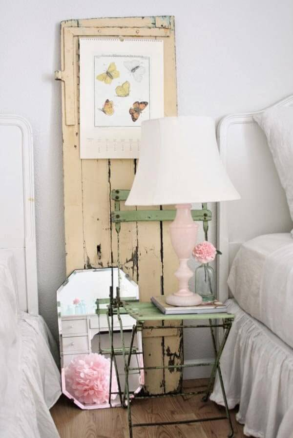Upcycled Antique Chair Night Table