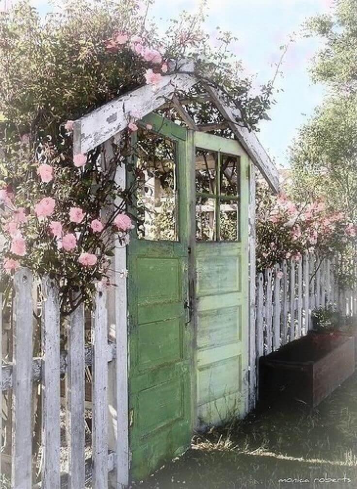 Upcycled Vintage Door Garden Gate
