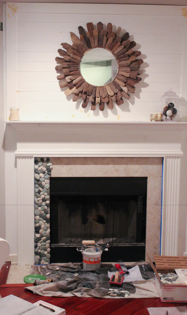 Update Your Fireplace with Mosaics
