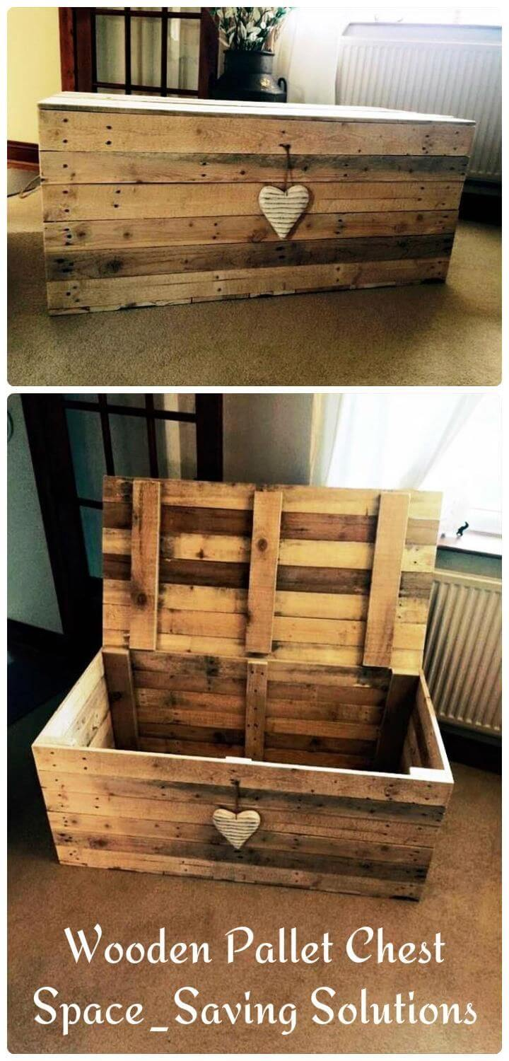 Upcycled Wood Pallet Storage Chest