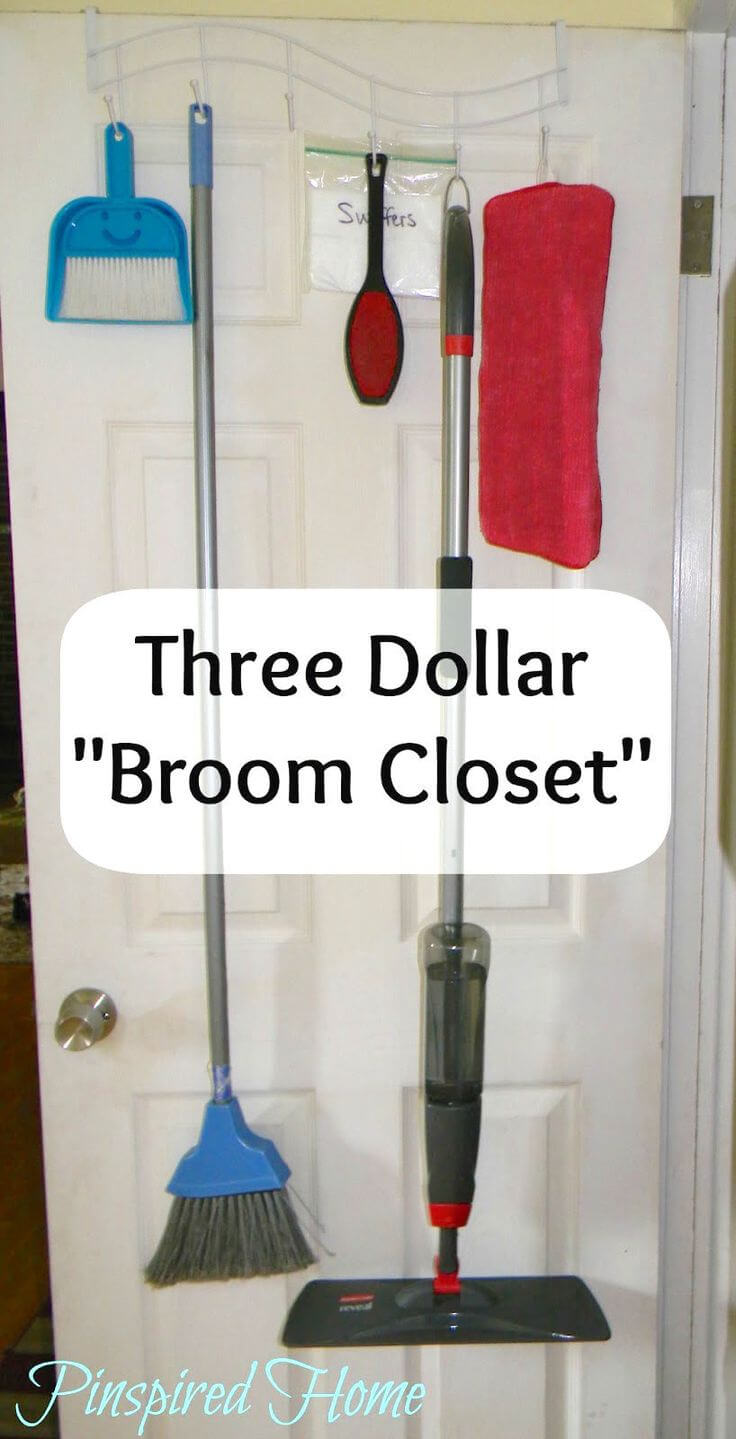 Instant in-the-door Broom Closet Idea