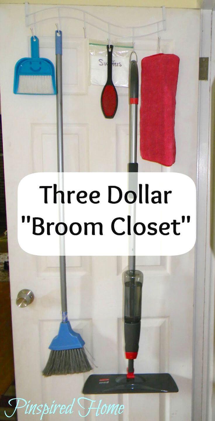 Instant in-the-door Broom Closet Idea