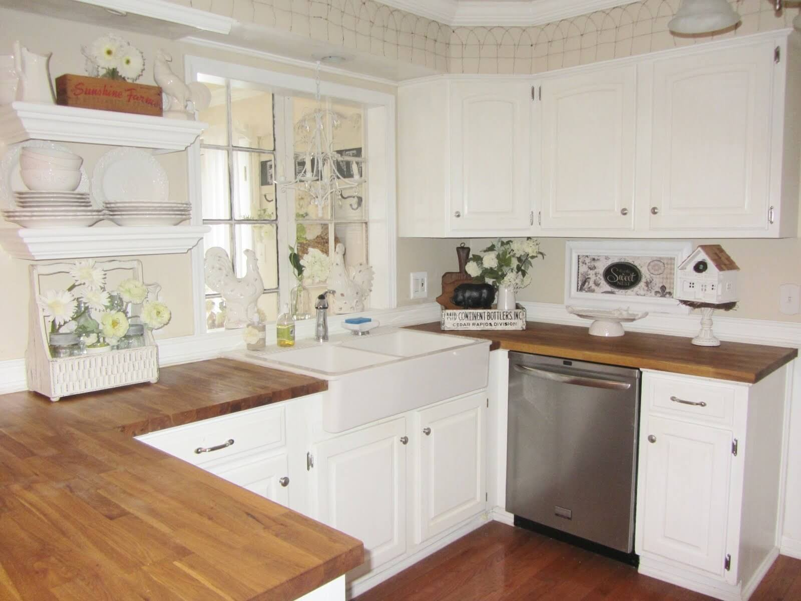 Classic White with Silver Hardware Cabinets