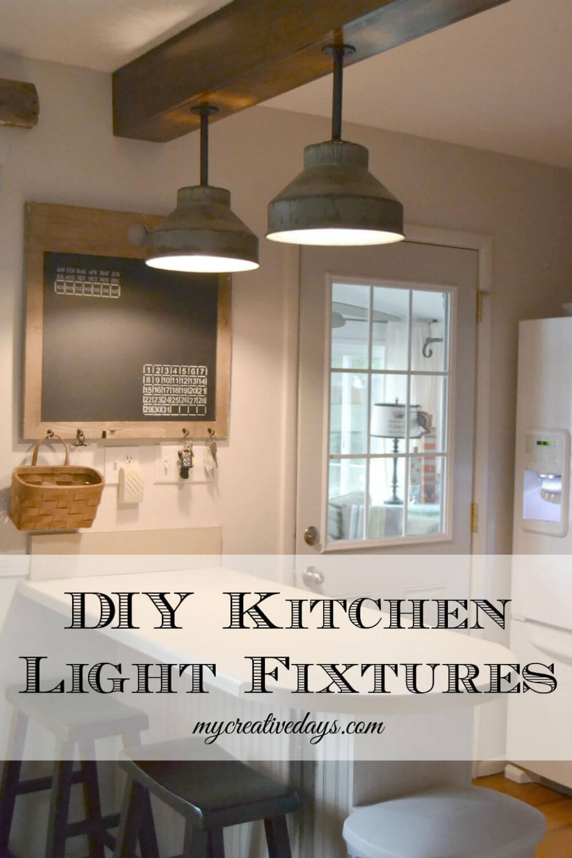 DIY Hanging Kitchen Light Fixtures