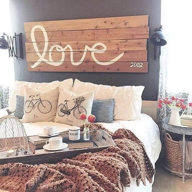Rustically Yours Handwritten Wooden Love Sign