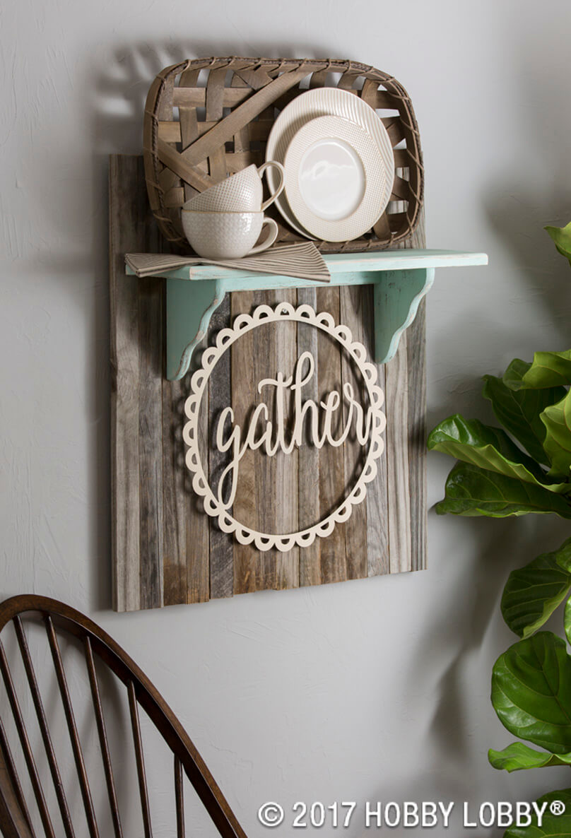 Gather for Tea Knickknack Shelf
