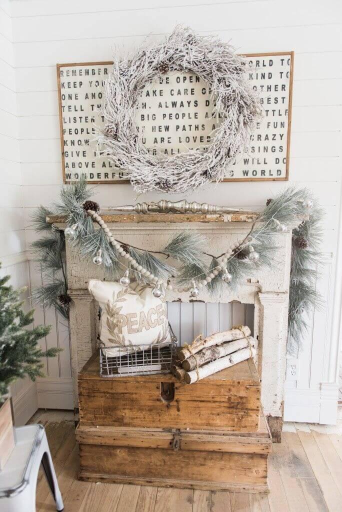 Winter White and Silver Decor
