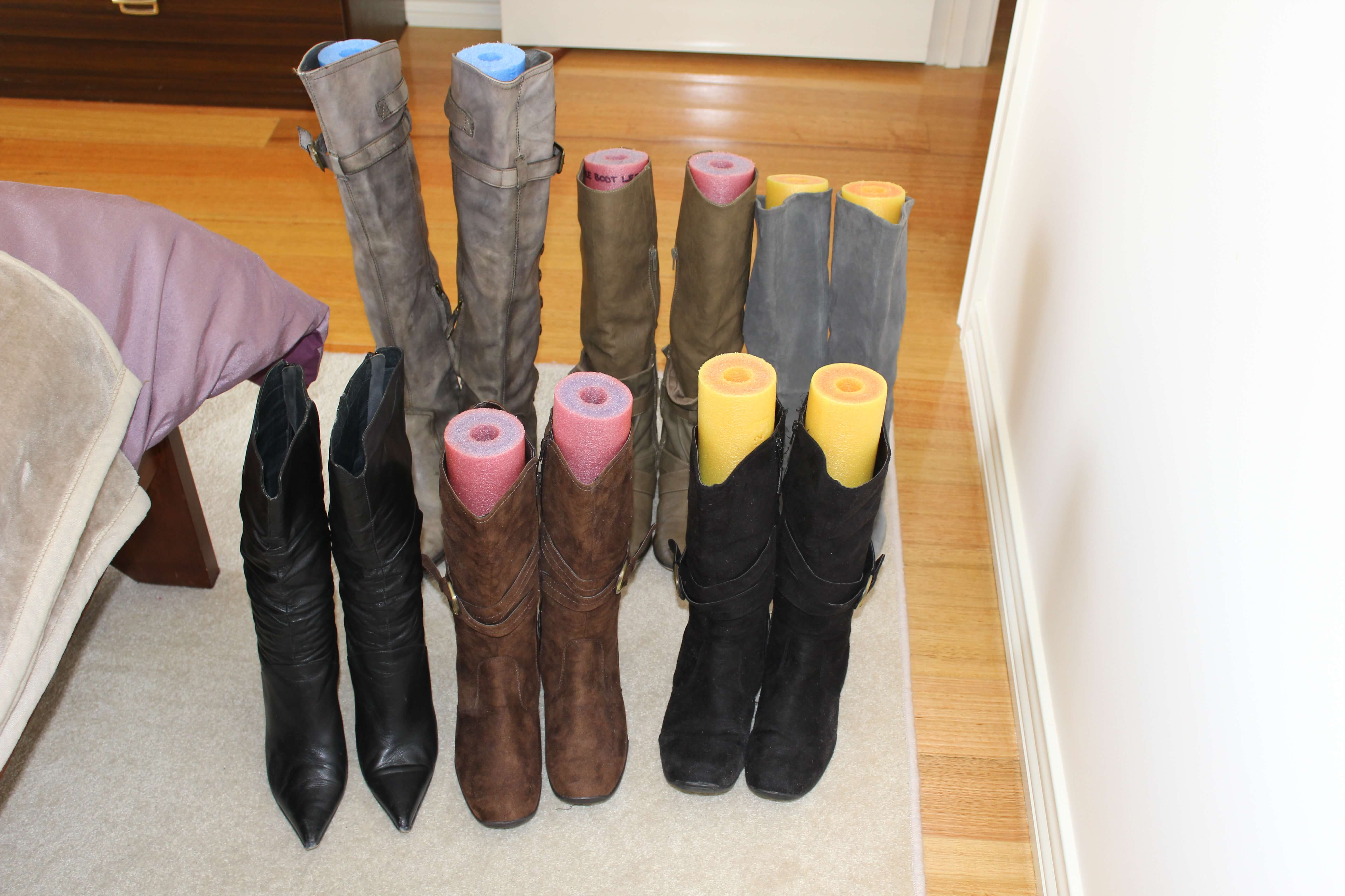 Pool Tube Shoe and Boot Forms
