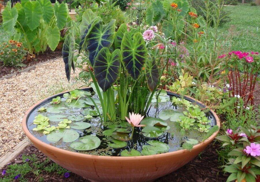 DIY Clay Pot Garden Pond