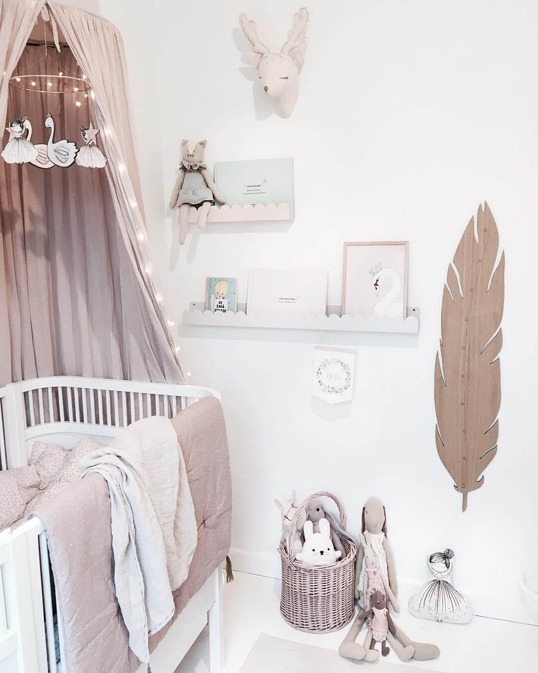 Soft Pinks and Eclectic Art For Nursery Whimsy
