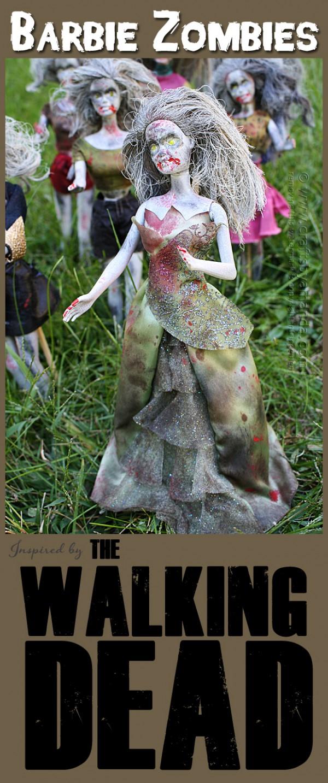 Walking Dead Barbie Zombies for Halloween