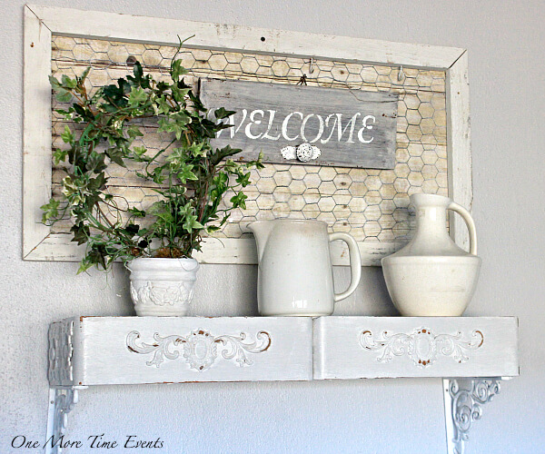 Farm White Ceramics and Upcycled Drawer Shelves