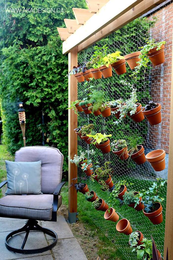 Flowering Hen House Chicken Wire Display