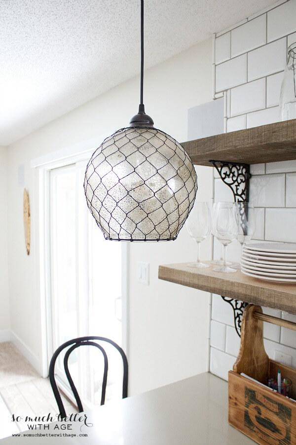 DIY Wired Globe Light Fixture