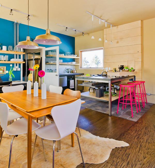 Vibrant Colors Kitchen Design Pictures