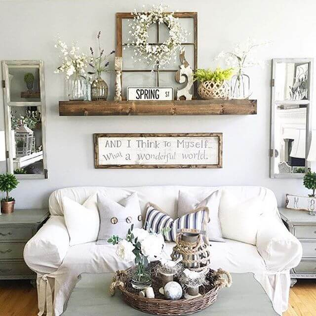 Rustic Window with Cotton Wreath
