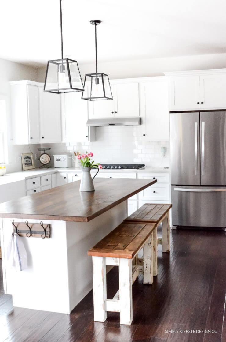 Make Your Own Farmhouse Kitchen Benches