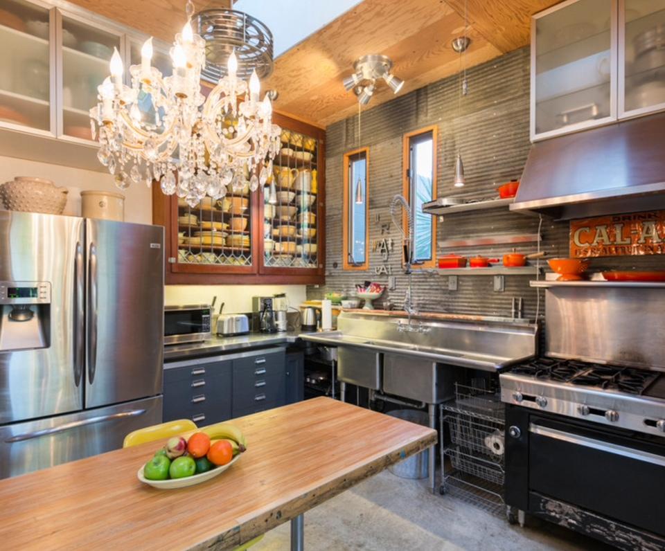 Metal Kitchen Design Idea