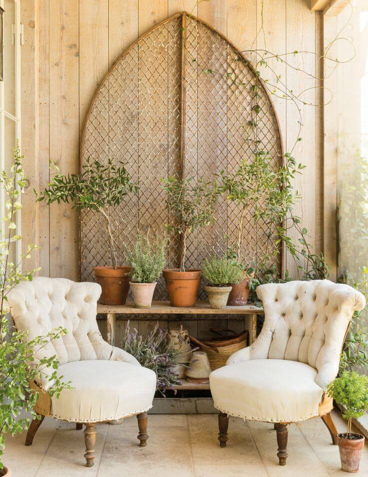 Secret Garden Rustic Porch Setting