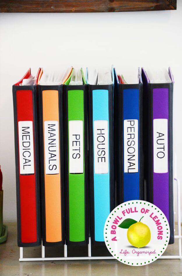 Adult Goals Important Paperwork Station