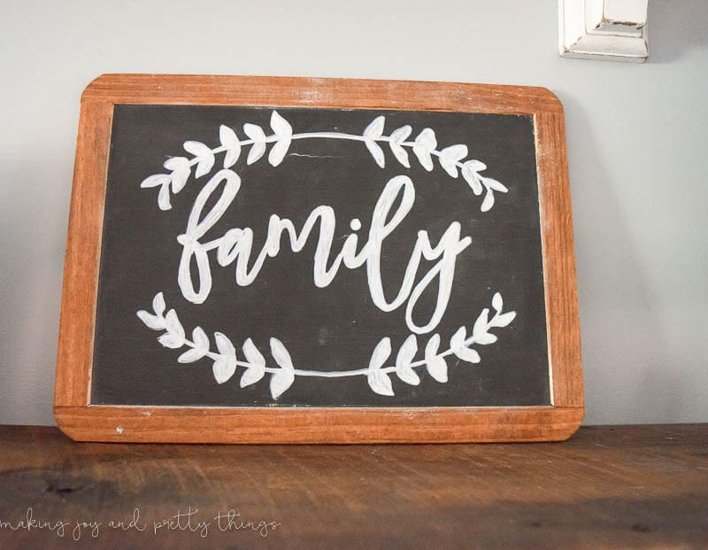 Hand-painted School Chalkboard Family Sign