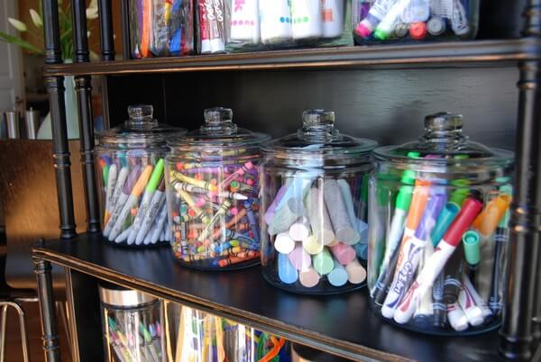 Adorable Candy Jar Craft Shelf