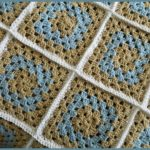 BLOG CLOSE UP Modern Traditional Granny square blanket twin size