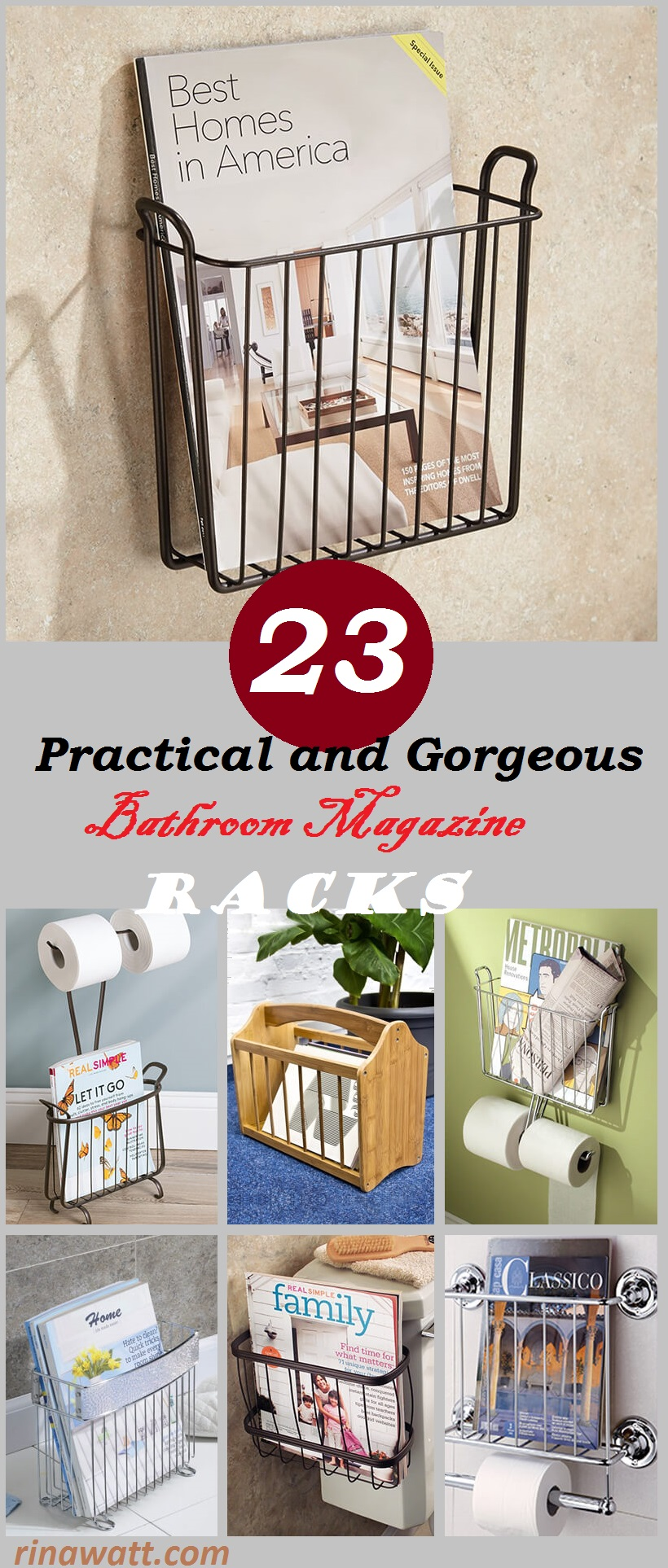 23 Practical And Gorgeous Bathroom Magazine Racks You Will