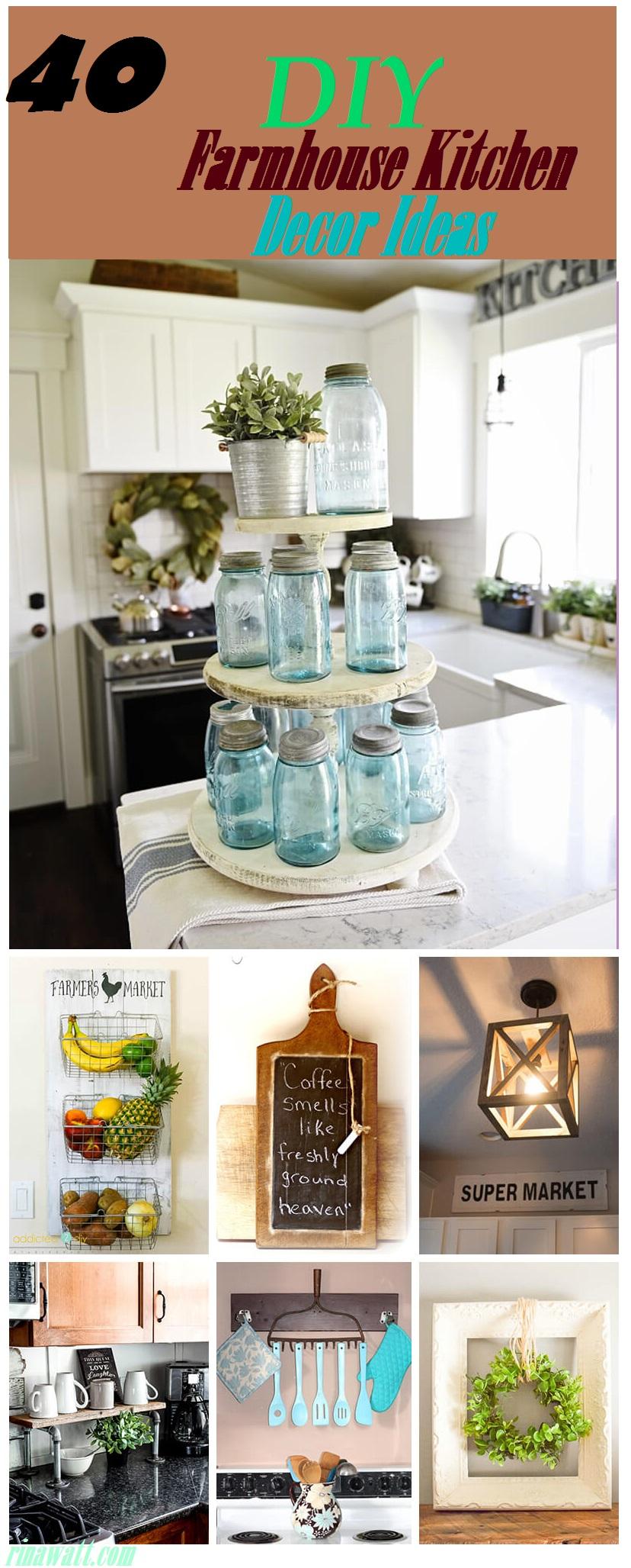 35 Diy Farmhouse Kitchen Decor Ideas To Upgrade Your