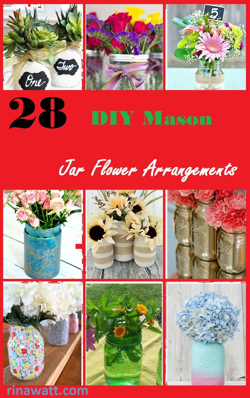 diy mason jar flower arrangements pinterest share rinawatt.com