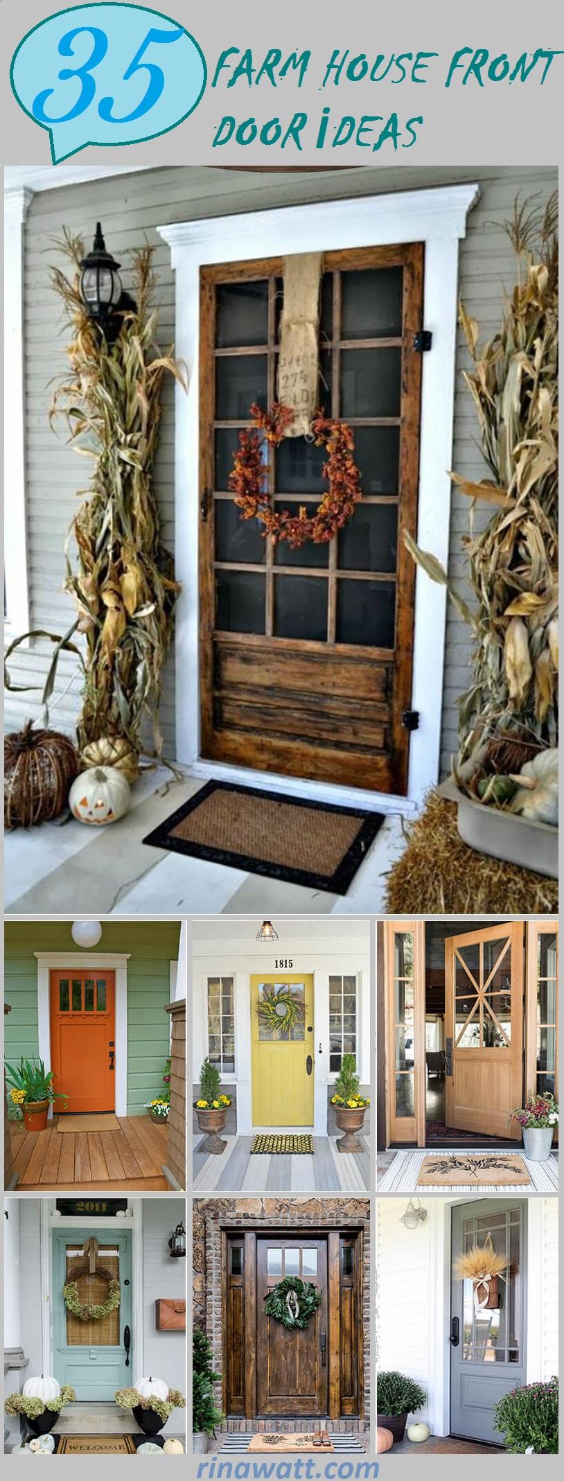 37 Gorgeous Farmhouse Front Door Ideas