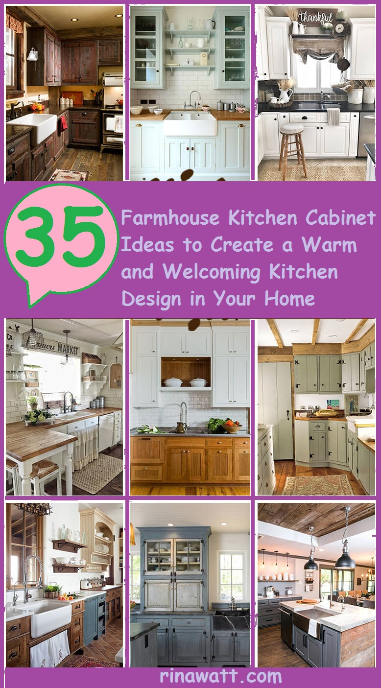 35 Farmhouse Kitchen Cabinet Ideas To Create A Warm And