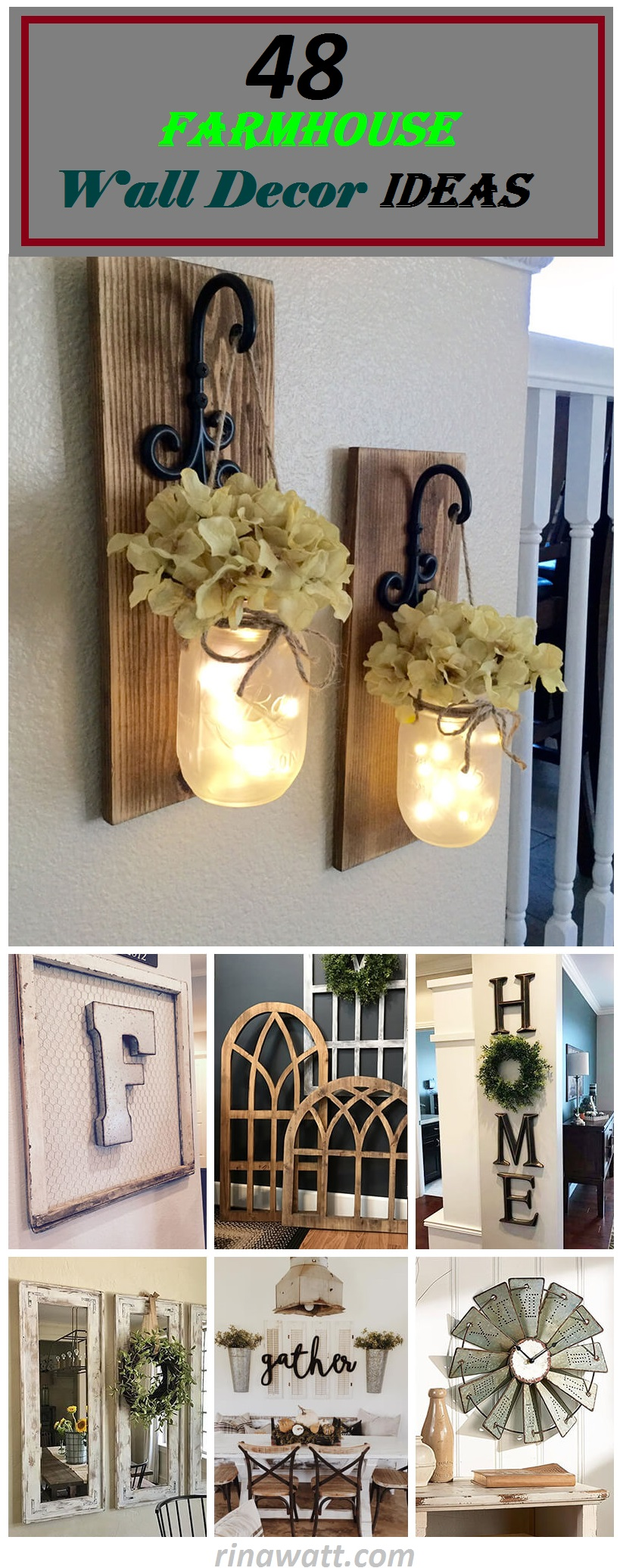 48 Charming Farmhouse Wall Decor Ideas To Add Some Rustic Flair To Your Blank Walls Rina Watt Blogger Home Decor Diy And Recipes