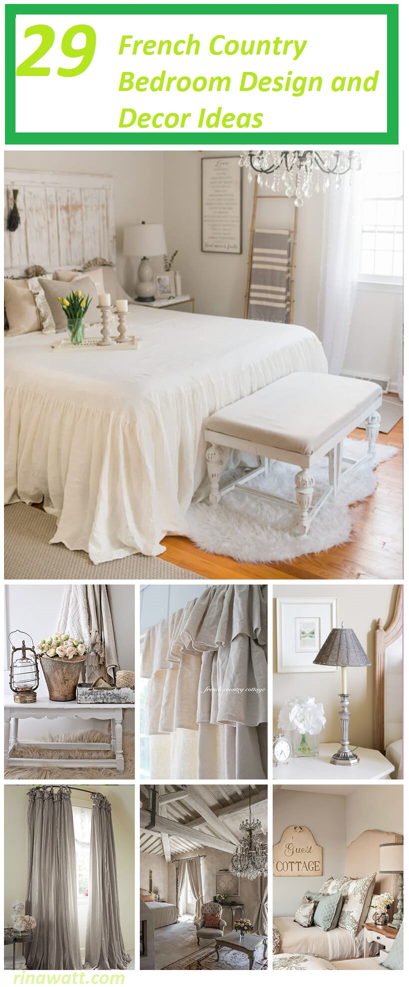 29 French Country Bedroom Design and Decor Ideas for a ...