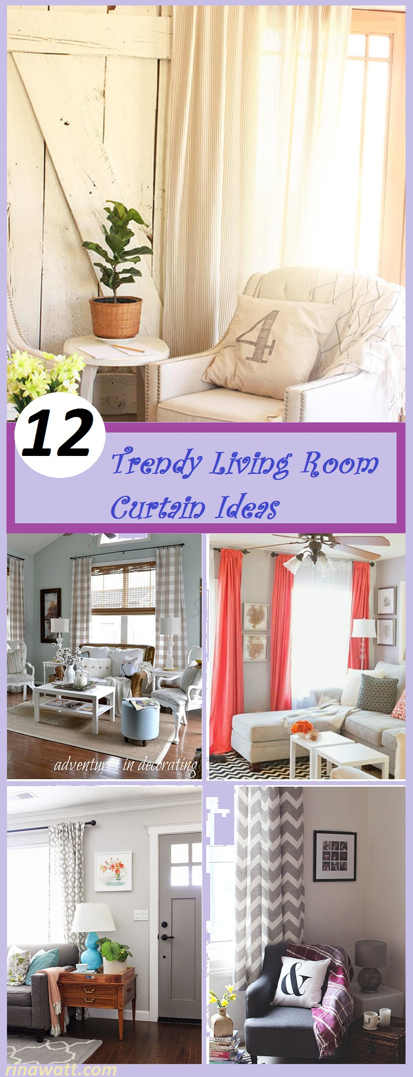12 Living Room Curtain Ideas to Instantly Upgrade your Interior ...
