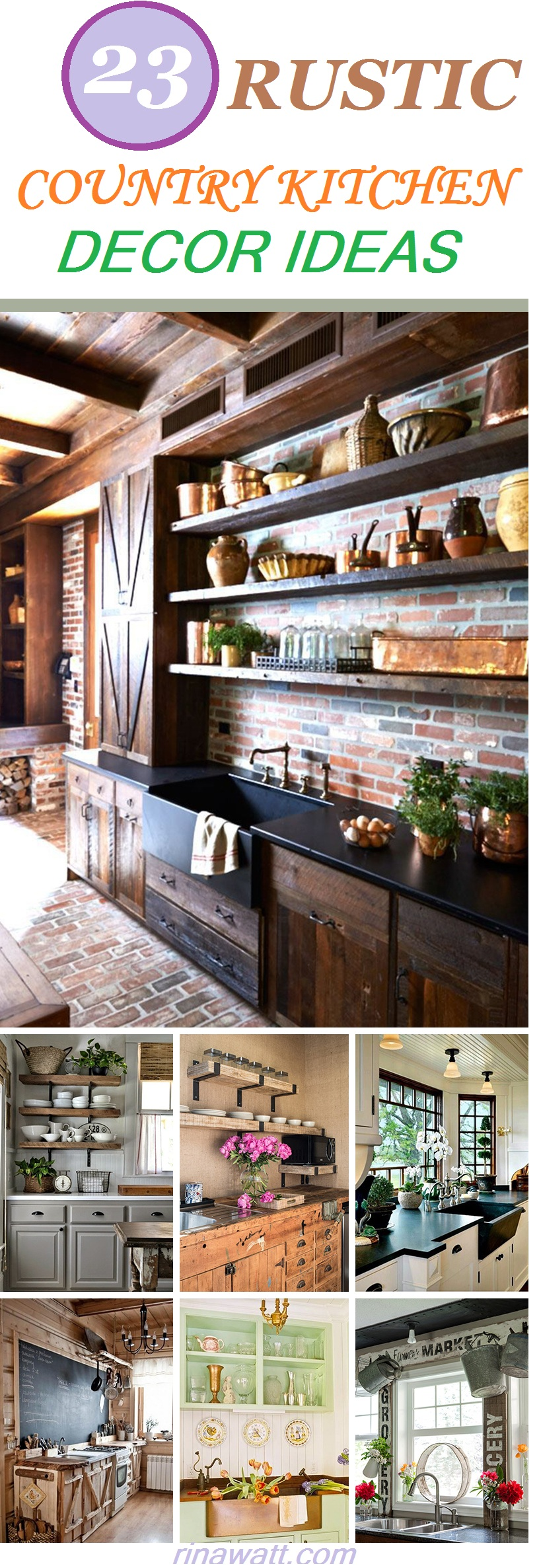 23 Rustic Country Kitchen Design Ideas To Jump Start Your Next Remodel Rina Watt Blogger Home Decor Diy And Recipes