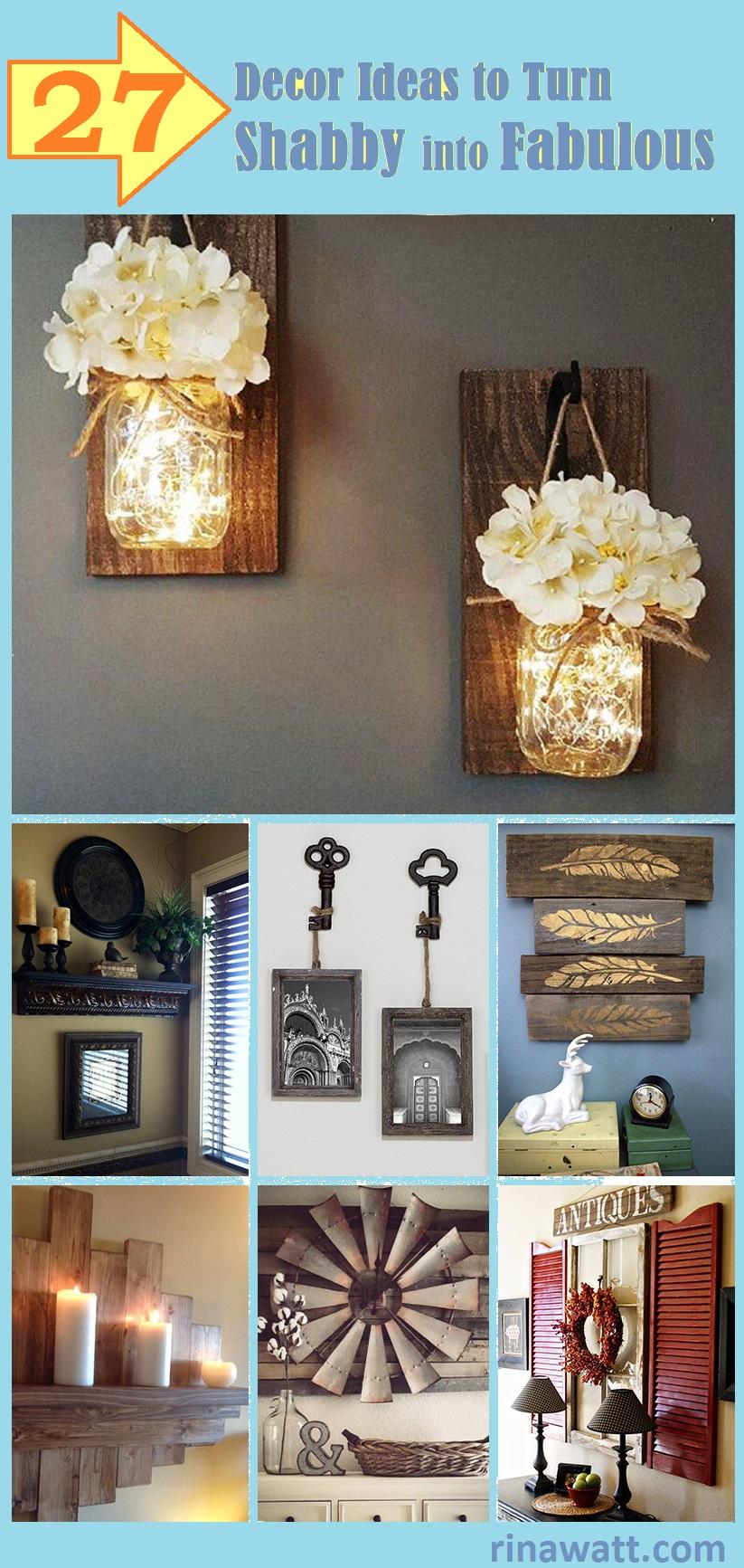 27 Rustic Wall Decor Ideas To Turn Shabby Into Fabulous Rina Watt Blogger Home Decor Diy And Recipes