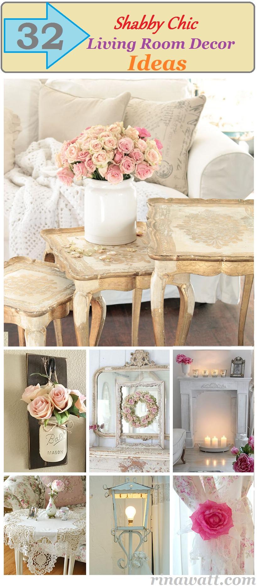 32 Shabby Chic Living Room Decor Ideas For A Comfy And Gorgeous Interior Rina Watt Blogger Home Decor Diy And Recipes