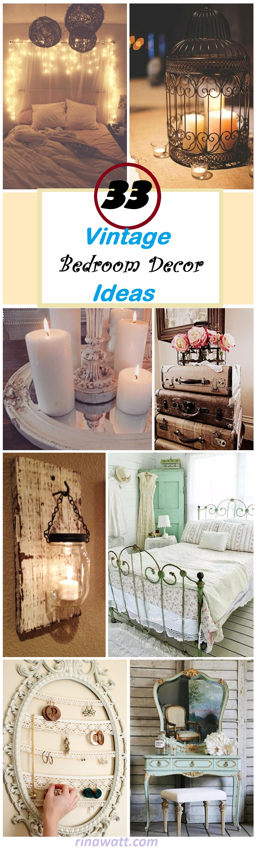 33 Vintage Bedroom Decor Ideas to Turn your Room into a ...