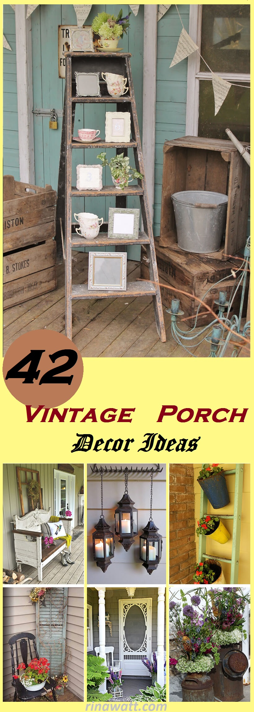 porch decorating, porch decor ideas, rustic spring porch decor ideas, vintage porch ideas