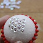 DIY Sequined Christmas Ornament 10
